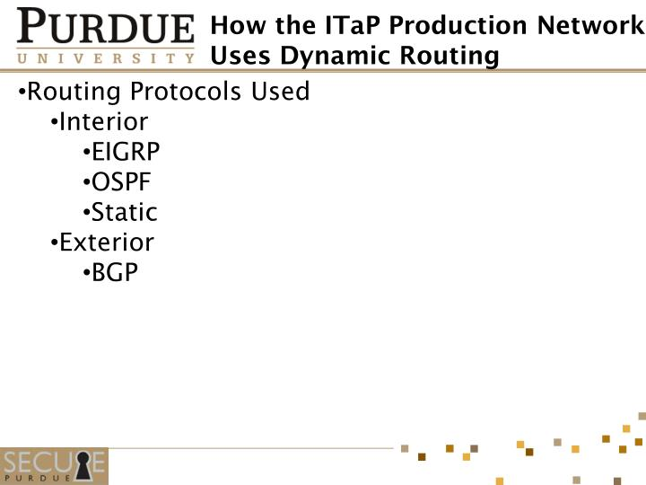 Routing Protocols Used