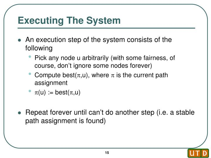 Executing The System