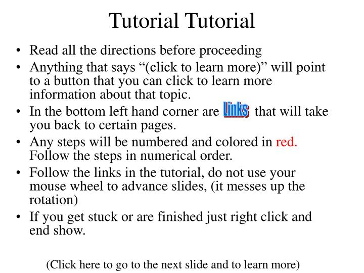 tutorial tutorial n.