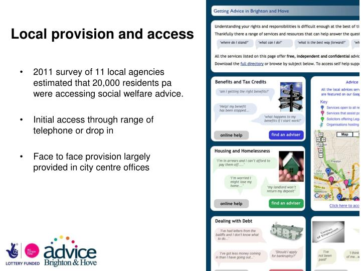 Local provision and access