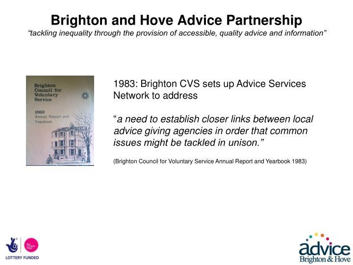Brighton and Hove Advice Partnership