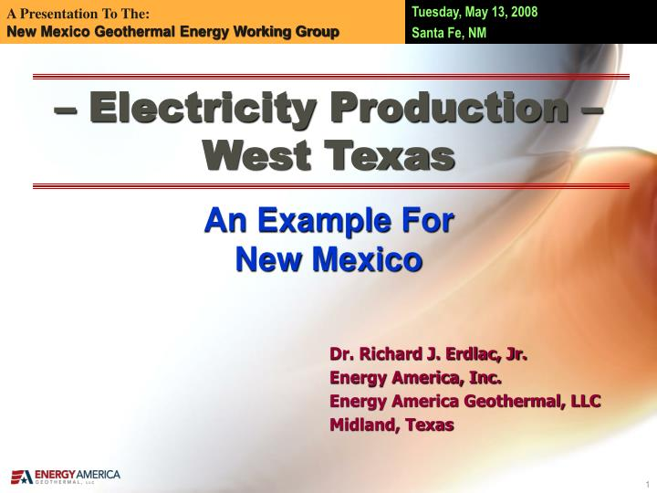 electricity production west texas n.
