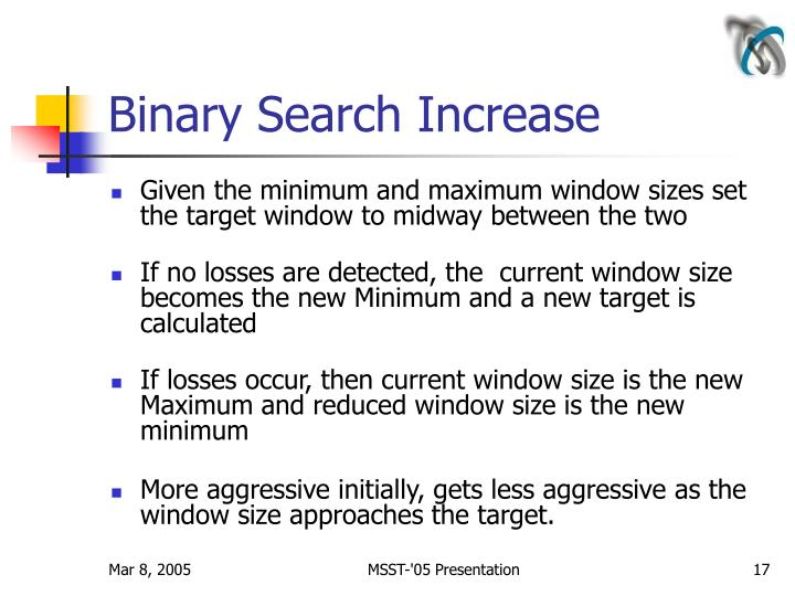 Binary Search Increase