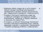 wymiana informacji wnioski z bada cd wg doing business 2004 world bank1