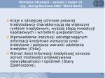 wymiana informacji wnioski z bada cd wg doing business 2004 world bank2