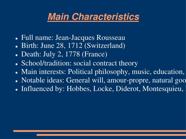 jean jacques rousseaus theory of the social contract Jean jacques rousseau the social contract (1762) excerpts from the original electronic text at the web site of the constitution society (nb paragraph numbers apply to this excerpt, not the original source) subject of the first book.