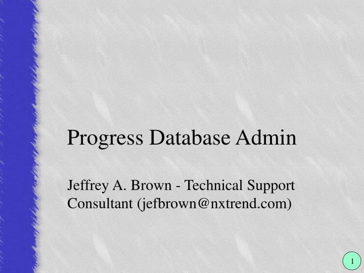 progress database admin n.