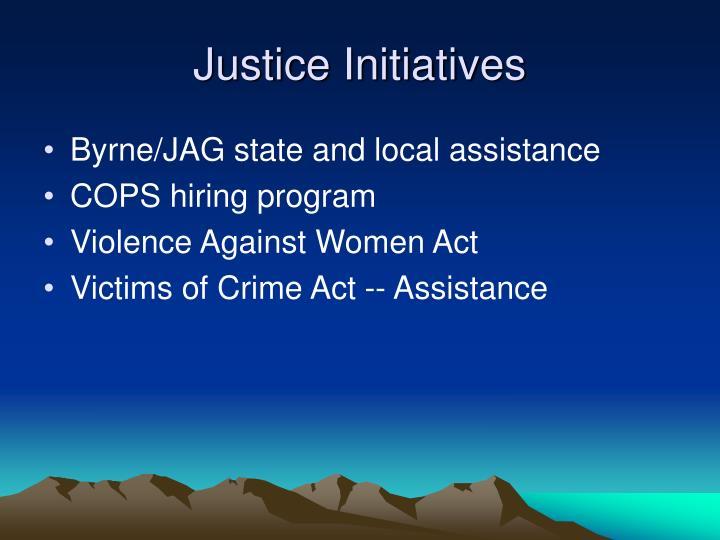 Justice initiatives