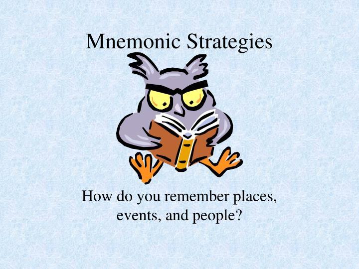 mnemonic strategies n.