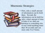 mnemonic strategies1