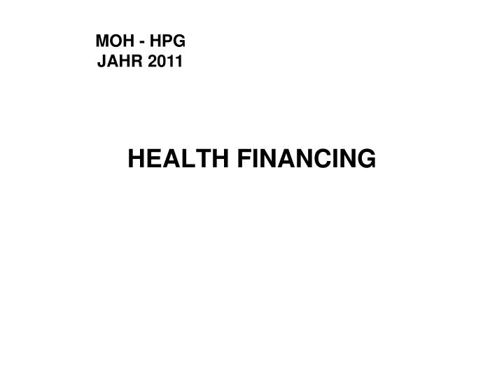 health financing n.