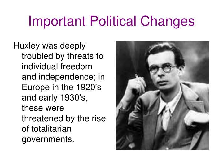 Important political changes