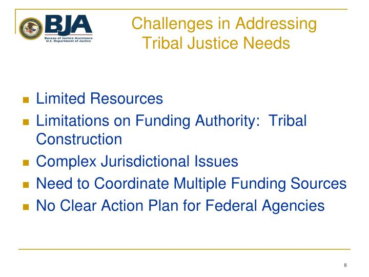 Challenges in Addressing                                Tribal Justice Needs