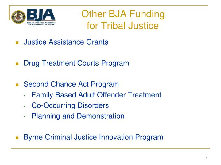 Other BJA Funding
