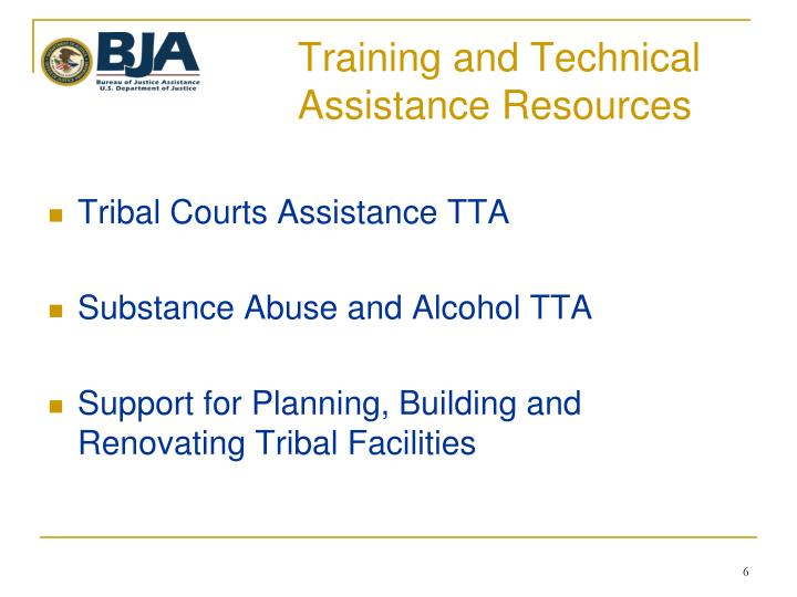 Training and Technical Assistance Resources