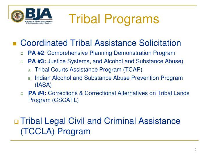 Tribal programs