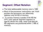 segment offset notation