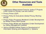 other resources and tools available2