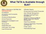 what t ta is available through bja
