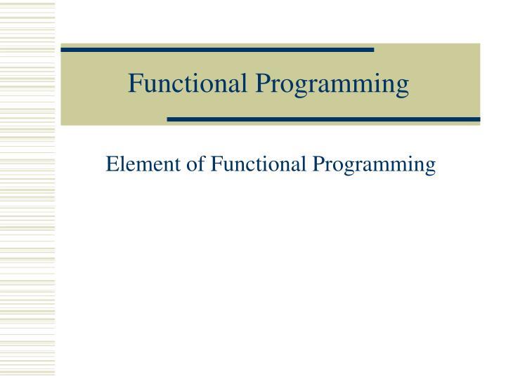 functional programming n.