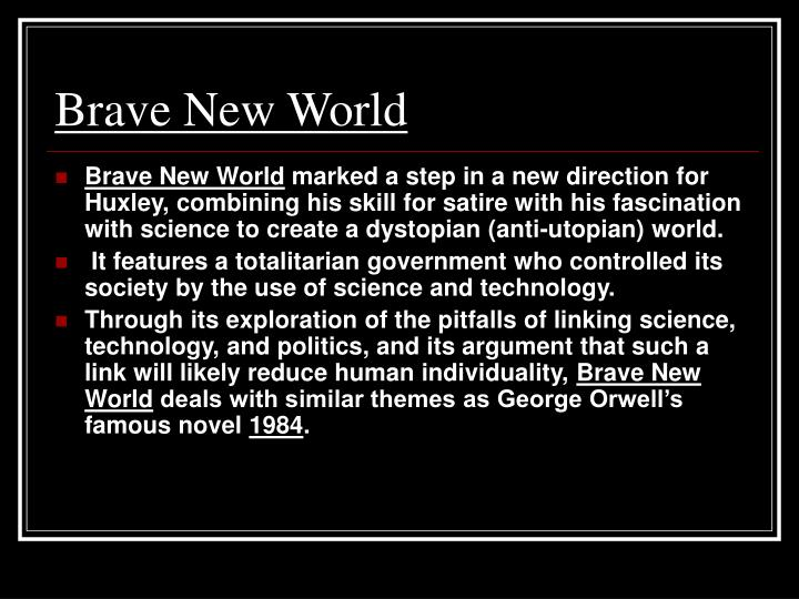 brave new world utopian society Brave new world remains absolutely relevant to this day as both a cautionary dystopian tale in the vein of the george orwell classic 1984, and as thought-provoking, thoroughly satisfying entertainment as regards the actual plot, brave new world is in essence a portrayal of a utopia (or dystopia.