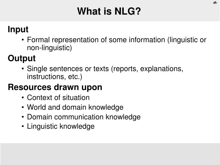 what is nlg n.