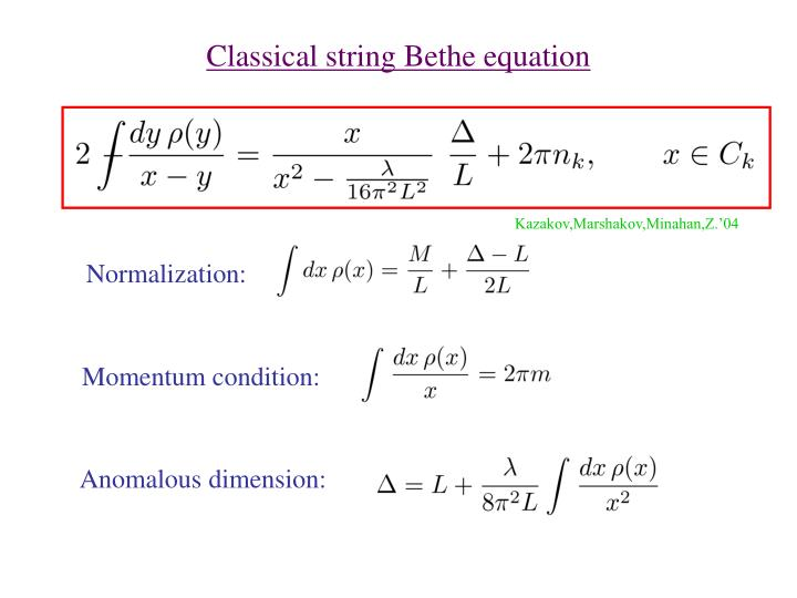 Classical string Bethe equation
