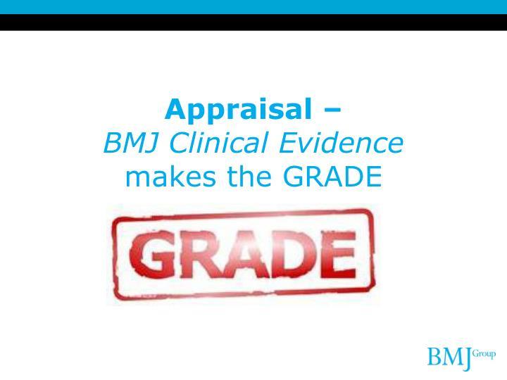 Appraisal –