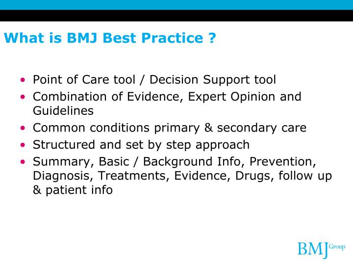 What is BMJ Best Practice ?