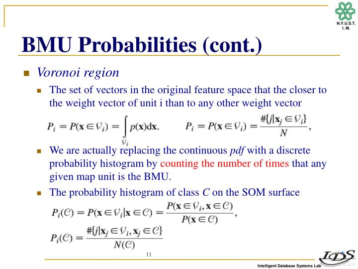 BMU Probabilities (cont.)