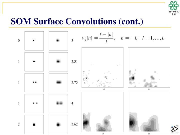 SOM Surface Convolutions (cont.)