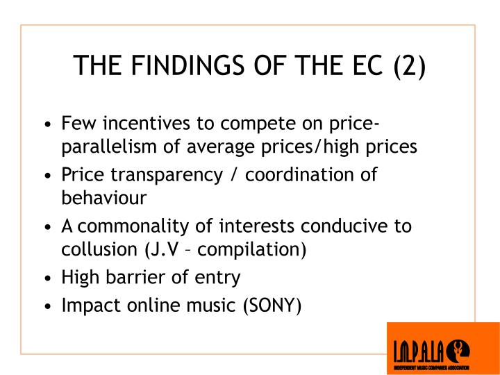 THE FINDINGS OF THE EC (2)