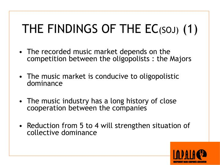 THE FINDINGS OF THE EC
