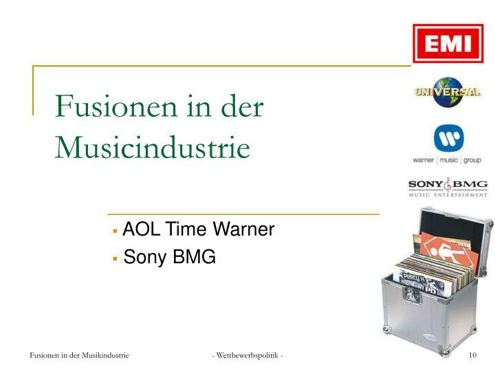 Fusionen in der Musicindustrie