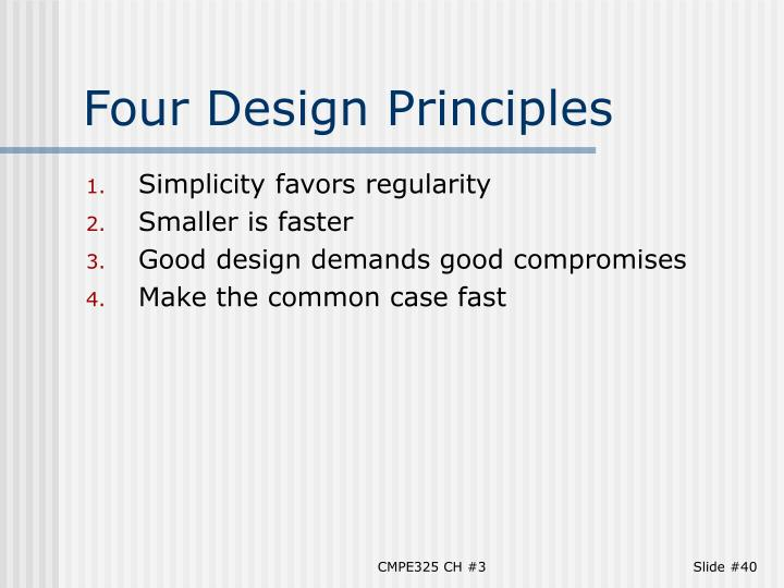 Four Design Principles