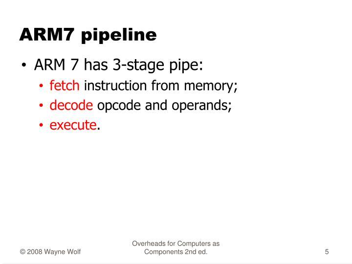 ARM7 pipeline