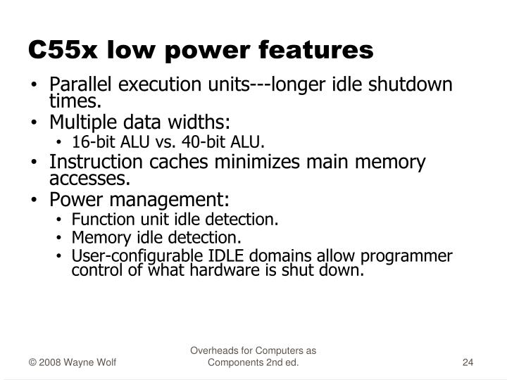 C55x low power features