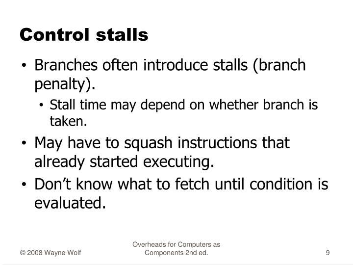 Control stalls