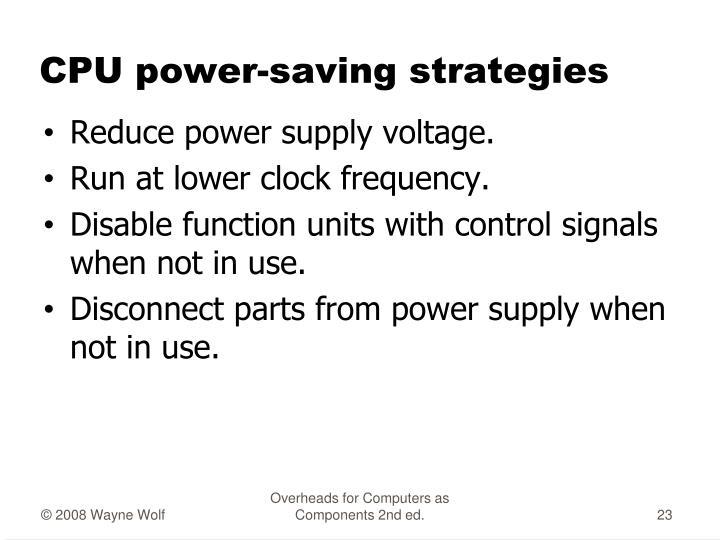 CPU power-saving strategies