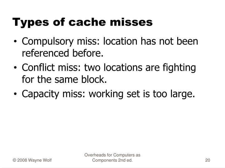 Types of cache misses