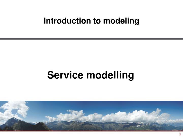 service modelling n.