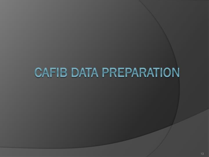 CAFIB DATA PREPARATION