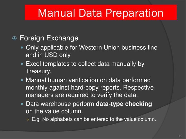 Manual Data Preparation
