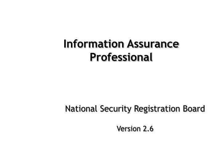 information assurance professional n.