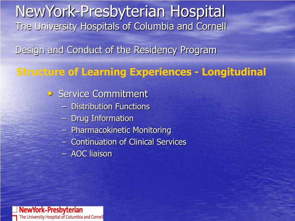PPT - A SUCCESSFUL RESIDENCY PROGRAM AT NY- PRESBYTERIAN HOSPITAL: 7