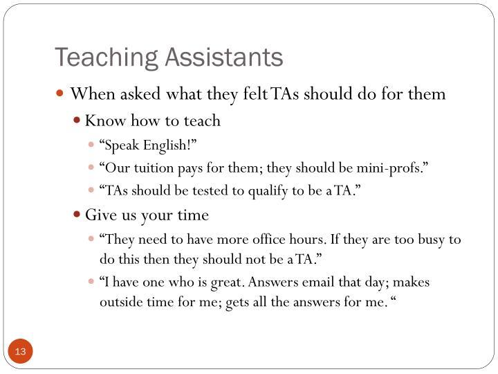 Teaching Assistants