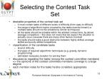 selecting the contest task set