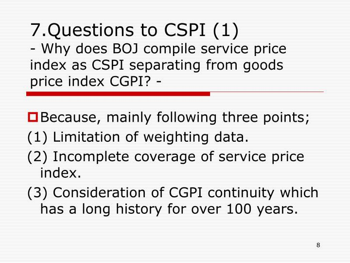 7.Questions to CSPI (1)
