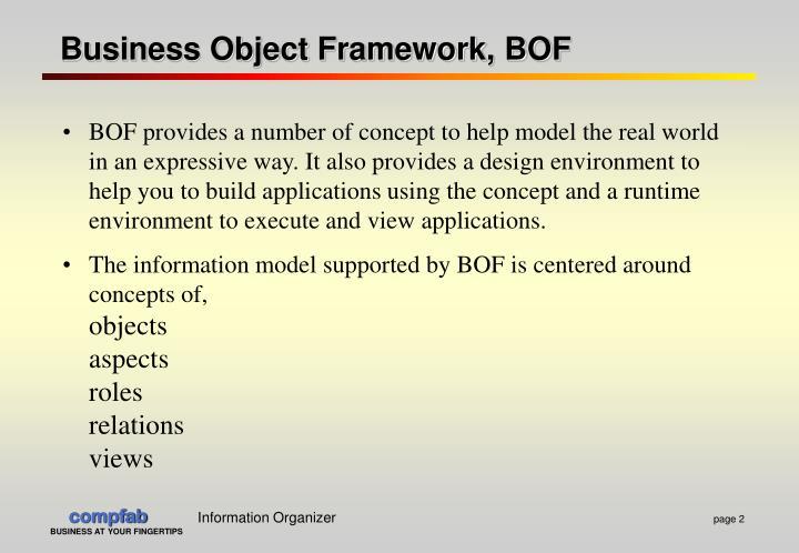 Business object framework bof1