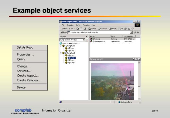 Example object services